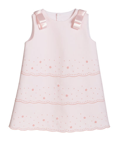 Girl's Pique Sleeveless Dress  Size 2-4T
