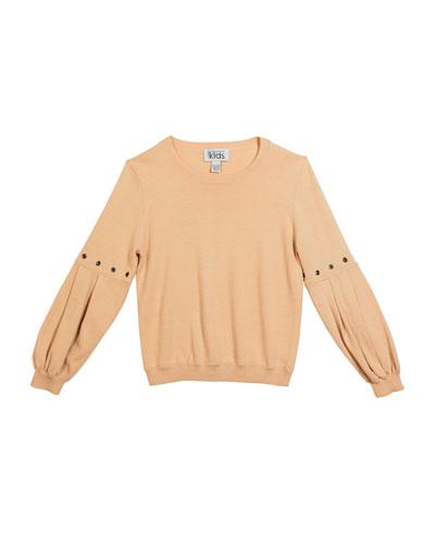 Girl's Balloon Sleeve Sweater  Size 8-16