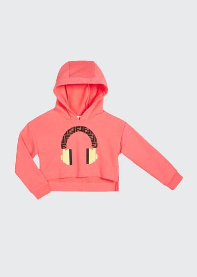 Girl's Hooded Sweatshirt w/ Logo Headphone Graphic  Size 8-14