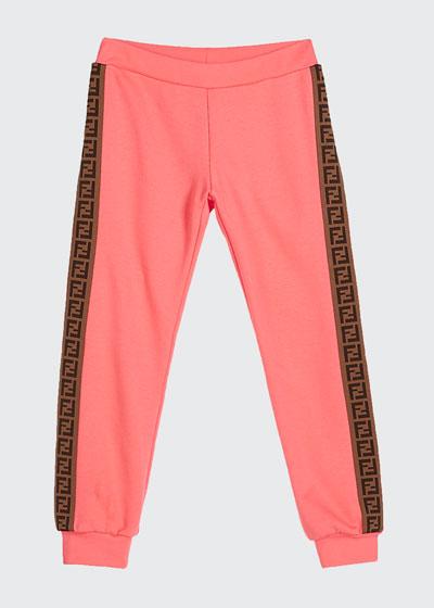 Girl's FF Logo Trim Sweatpants  Size 8-14