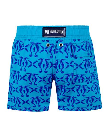 Boy's Jim Printed Swim Trunks, Size 2-14