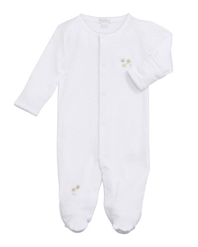 Buzzing Bees Embroidered Footie Playsuit  Size Newborn-6 Months