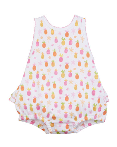 Prismatic Pineapples Printed Bubble Playsuit  Size 3-18 Months