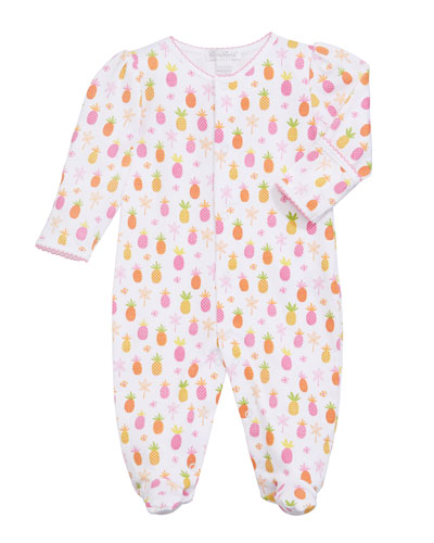 Prismatic Pineapples Printed Footie Playsuit  Size Newborn-9 Months