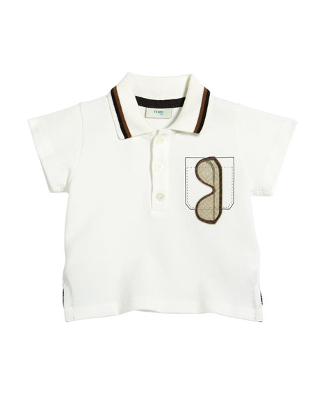 Image 1 of 1: Boy's Sunglasses Graphic Polo Shirt, 12-24 Months, White