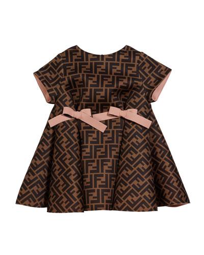 Girl's FF Neoprene Dress w/ Bows  Size 12-24 Months