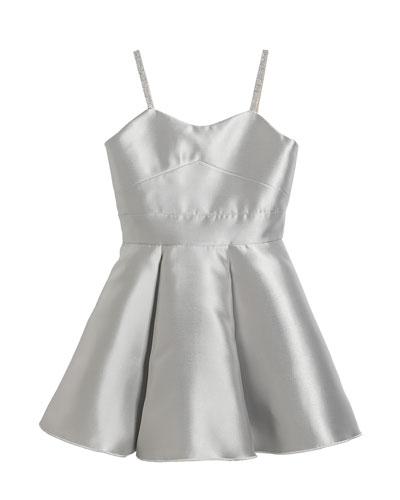 Girl's Alana Matte Sateen Swing Dress  Size 7-16