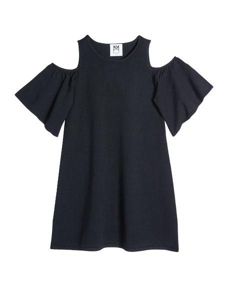 Girl's Flutter-Sleeve Knit Dress, Size 7-16
