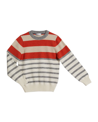 Boy's Cashmere Striped Sweater  Size 4-6