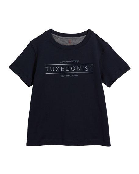 Boy's Tuxedonist Cotton T-Shirt, Size 8-10