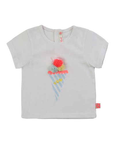 Girl's Ice Cream Graphic Short-Sleeve Baby Tee  Size 12M-3