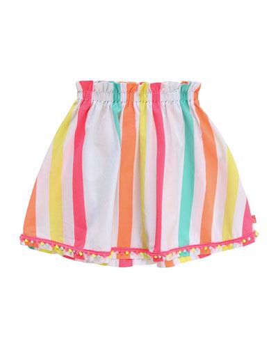 Girl's Multicolor Striped Skirt  Size 4-10