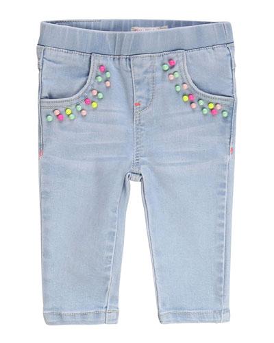 Girl's Extra Stretch Denim Pants w/ Elastic Waist  Size 12M-3