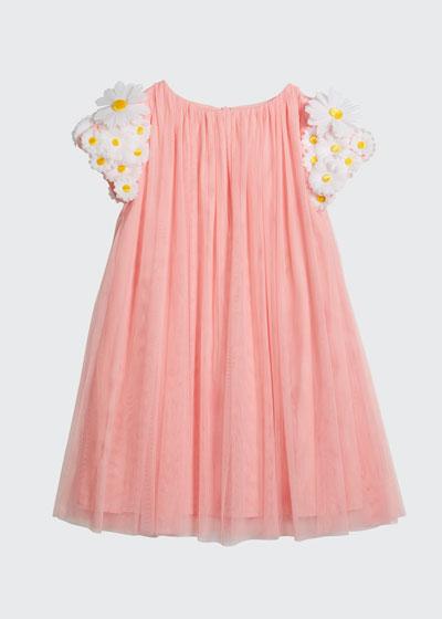 Girl's Tulle 3D Butterfly Dress  Size 6-12