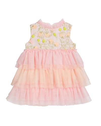 Girl's Victoria Tiered Tulle Dress  Size 12M-2
