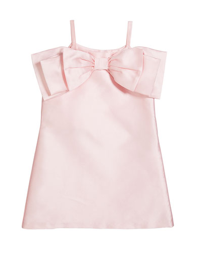 Girl's Big Bow Front Dress  Size 6-12