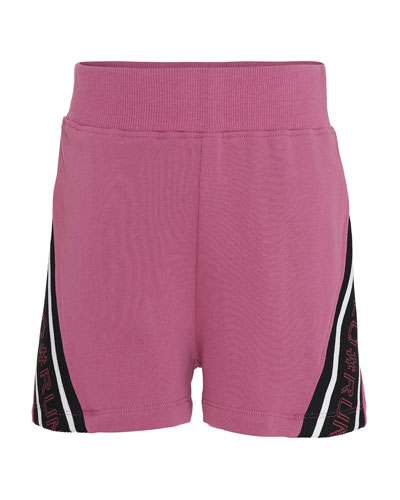 Kid's Oki Logo Tape Sweat Shorts  Size 5-16