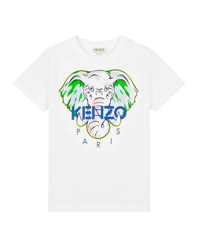 Boy's Elephant Logo Printed T-Shirt  Size 2-6