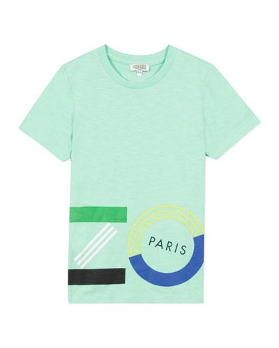 Boy's Wrap Around Logo T-Shirt  Size 8-12