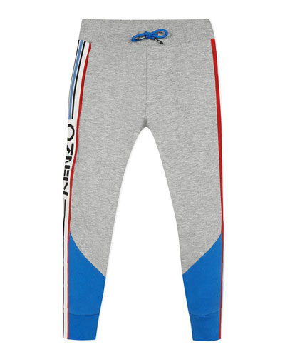 Boy's Logo Taping Fleece Jogger Pants  Size 2-6