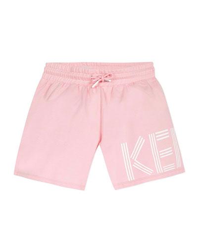 Girl's Logo Fleece Shorts  Size 8-12