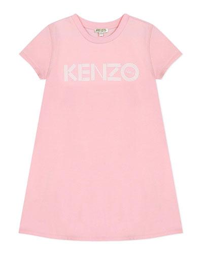 Girl's Logo Print A-Line Dress  Size 8-12