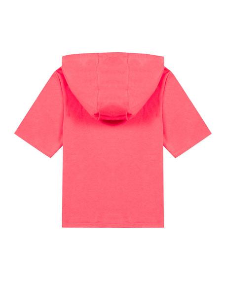 Girl's Tiger Short-Sleeve Hooded Sweatshirt, Size 2-6