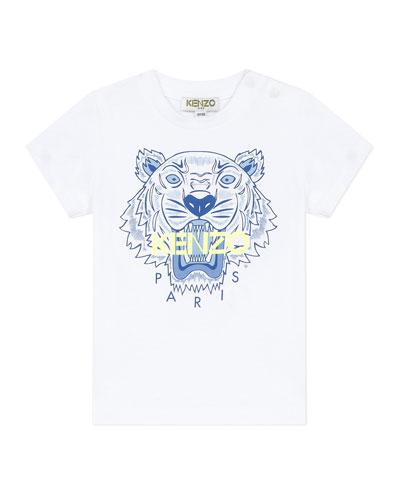 Boy's Tiger Logo Printed T-Shirt  Size 6-18 Months