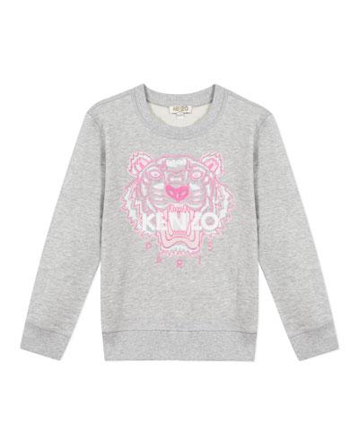 Girl's Embroidered Tiger Logo Sweatshirt  Size 8-12