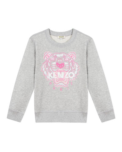 Girl's Embroidered Tiger Logo Sweatshirt  Size 2-6