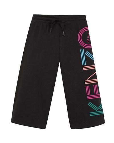 Girl's Logo Cropped Fleece Pants  Size 2-6
