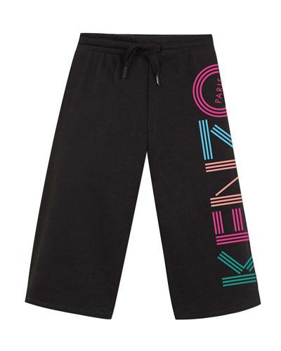 Girl's Logo Cropped Fleece Pants  Size 8-12