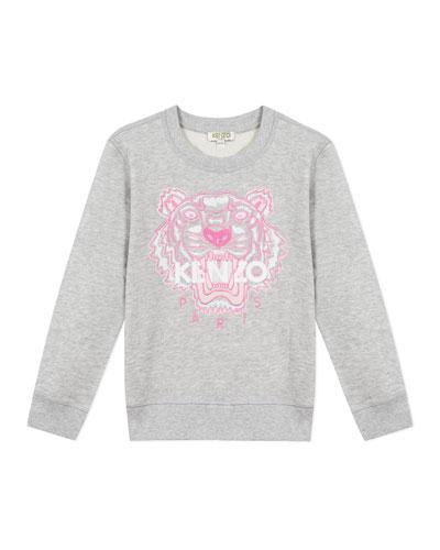 Girl's Embroidered Tiger Logo Sweatshirt  Size 14