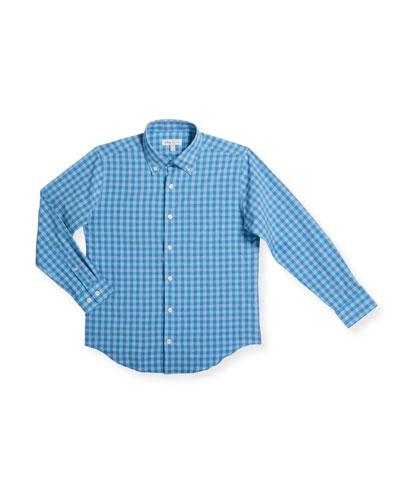 Boy's Cornelius Check Woven Top, Size XXS-XL