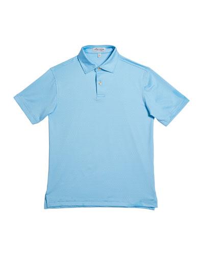 Boy's Kenmore Printed Dragonfly Jersey Polo Shirt, Size XXS-XL