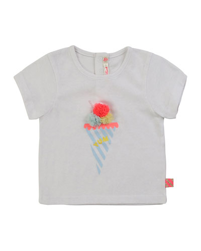 Girl's Ice Cream Graphic Short-Sleeve Tee  Size 2-3