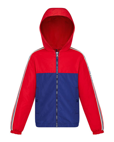 Boy's Gittaz Two-Tone Logo Tape Jacket  Size 4-6