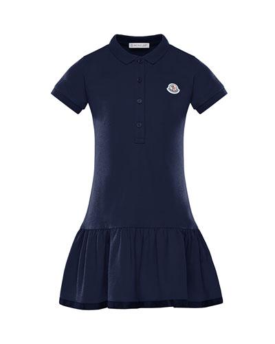 Girl's Piquet Stretch Polo Dress  Size 4-6