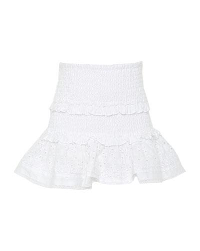 Girl's Shirred Skirt  Size 7-16