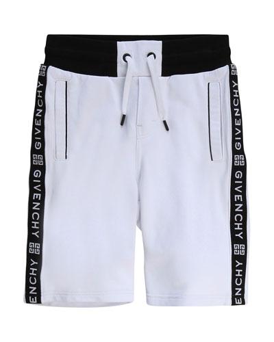 Boy's Logo Taping Drawstring Shorts  Size 6-10