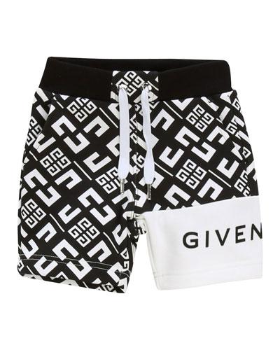 Boy's 4-G Printed Drawstring Shorts  Size 2-3