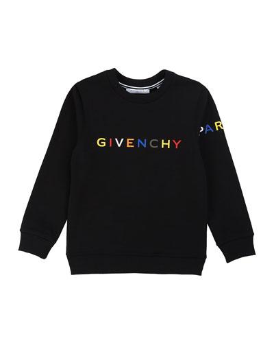 Boy's Multicolor Logo Text Sweatshirt  Size 12-14