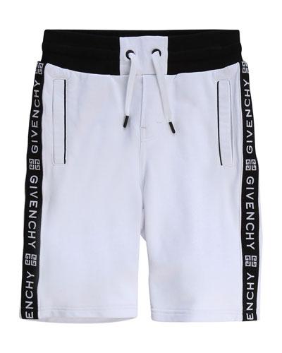 Boy's Logo Taping Drawstring Shorts  Size 4