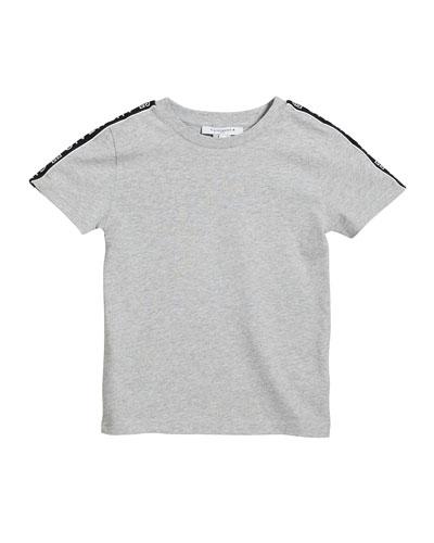 Boy's Logo Trim Mini Me T-Shirt  Size 4