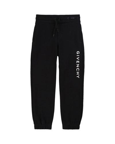 Boy's Logo Mini Me Sweatpants  Size 6-10