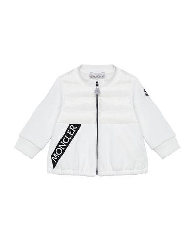 Zip-Front Logo Jacket, Size 12M-3