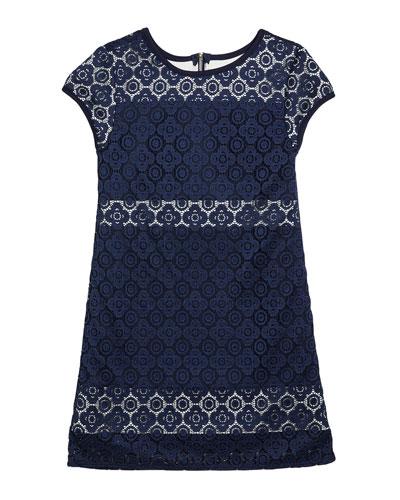 Girl's The Janet Stretch Crochet Lace Dress  Size S-XL