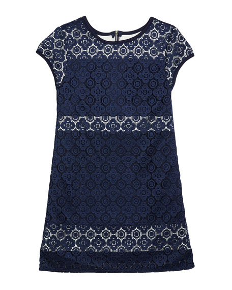 Girl's The Janet Stretch Crochet Lace Dress, Size S-XL
