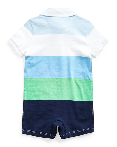 Rugby Jersey Colorblock Shortall, Size 3-18 Months