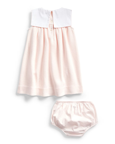 Textured Knit Pique Dress w/ Bloomers, Size 9-24 Months